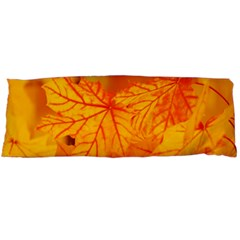 Bright Yellow Autumn Leaves Body Pillow Case Dakimakura (two Sides) by Amaryn4rt