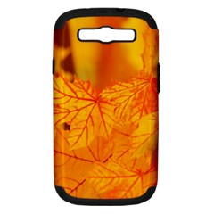 Bright Yellow Autumn Leaves Samsung Galaxy S Iii Hardshell Case (pc+silicone) by Amaryn4rt