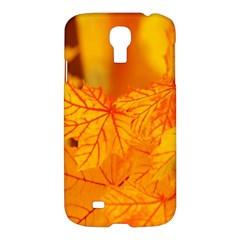 Bright Yellow Autumn Leaves Samsung Galaxy S4 I9500/i9505 Hardshell Case by Amaryn4rt