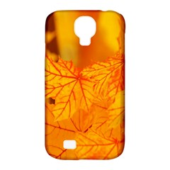 Bright Yellow Autumn Leaves Samsung Galaxy S4 Classic Hardshell Case (pc+silicone) by Amaryn4rt