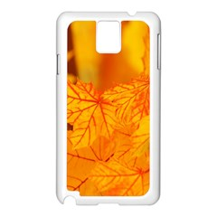 Bright Yellow Autumn Leaves Samsung Galaxy Note 3 N9005 Case (white) by Amaryn4rt