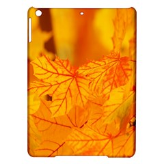 Bright Yellow Autumn Leaves Ipad Air Hardshell Cases by Amaryn4rt