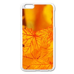 Bright Yellow Autumn Leaves Apple Iphone 6 Plus/6s Plus Enamel White Case by Amaryn4rt