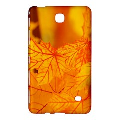Bright Yellow Autumn Leaves Samsung Galaxy Tab 4 (7 ) Hardshell Case  by Amaryn4rt