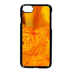 Bright Yellow Autumn Leaves Apple Iphone 7 Seamless Case (black) by Amaryn4rt