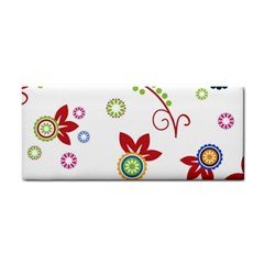 Colorful Floral Wallpaper Background Pattern Cosmetic Storage Cases by Amaryn4rt