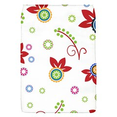 Colorful Floral Wallpaper Background Pattern Flap Covers (s)  by Amaryn4rt