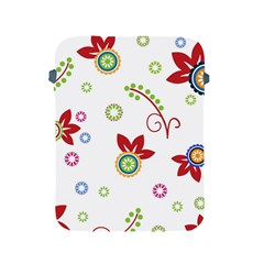 Colorful Floral Wallpaper Background Pattern Apple Ipad 2/3/4 Protective Soft Cases by Amaryn4rt