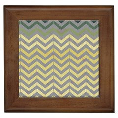 Abstract Vintage Lines Framed Tiles
