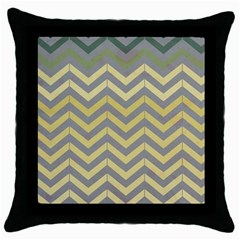Abstract Vintage Lines Throw Pillow Case (black) by Amaryn4rt