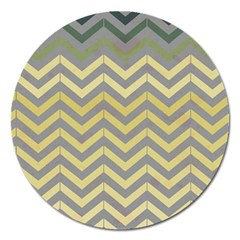 Abstract Vintage Lines Magnet 5  (round) by Amaryn4rt