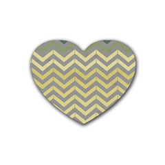 Abstract Vintage Lines Rubber Coaster (heart)  by Amaryn4rt