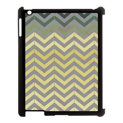 Abstract Vintage Lines Apple Ipad 3/4 Case (black) by Amaryn4rt