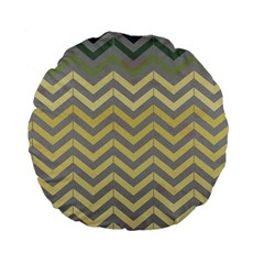 Abstract Vintage Lines Standard 15  Premium Flano Round Cushions by Amaryn4rt