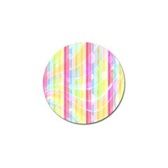 Colorful Abstract Stripes Circles And Waves Wallpaper Background Golf Ball Marker (10 Pack) by Amaryn4rt