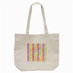 Colorful Abstract Stripes Circles And Waves Wallpaper Background Tote Bag (cream) by Amaryn4rt