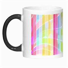 Colorful Abstract Stripes Circles And Waves Wallpaper Background Morph Mugs by Amaryn4rt