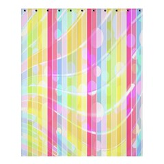 Colorful Abstract Stripes Circles And Waves Wallpaper Background Shower Curtain 60  X 72  (medium)  by Amaryn4rt