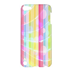 Colorful Abstract Stripes Circles And Waves Wallpaper Background Apple Ipod Touch 5 Hardshell Case