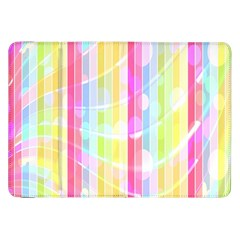 Colorful Abstract Stripes Circles And Waves Wallpaper Background Samsung Galaxy Tab 8 9  P7300 Flip Case by Amaryn4rt