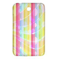 Colorful Abstract Stripes Circles And Waves Wallpaper Background Samsung Galaxy Tab 3 (7 ) P3200 Hardshell Case  by Amaryn4rt
