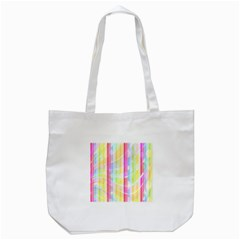 Colorful Abstract Stripes Circles And Waves Wallpaper Background Tote Bag (white) by Amaryn4rt