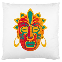 Mask Large Cushion Case (two Sides) by Valentinaart