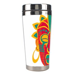 Mask Stainless Steel Travel Tumblers by Valentinaart