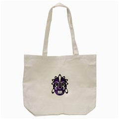 Mask Tote Bag (cream) by Valentinaart