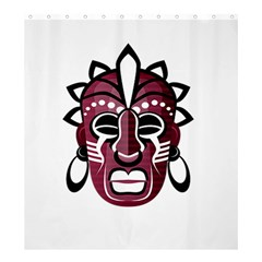 Mask Shower Curtain 66  X 72  (large)  by Valentinaart