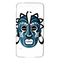 Mask Samsung Galaxy S5 Back Case (white) by Valentinaart