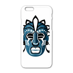 Mask Apple Iphone 6/6s White Enamel Case by Valentinaart