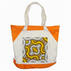Fractal Background With Golden And Silver Pipes Accent Tote Bag