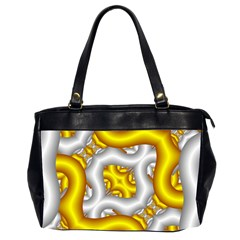 Fractal Background With Golden And Silver Pipes Office Handbags (2 Sides)  by Amaryn4rt