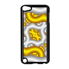 Fractal Background With Golden And Silver Pipes Apple Ipod Touch 5 Case (black) by Amaryn4rt