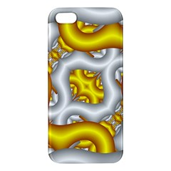 Fractal Background With Golden And Silver Pipes Apple Iphone 5 Premium Hardshell Case