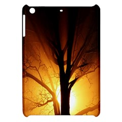 Rays Of Light Tree In Fog At Night Apple Ipad Mini Hardshell Case by Amaryn4rt
