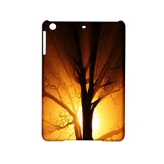 Rays Of Light Tree In Fog At Night Ipad Mini 2 Hardshell Cases by Amaryn4rt