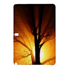 Rays Of Light Tree In Fog At Night Samsung Galaxy Tab Pro 10 1 Hardshell Case by Amaryn4rt