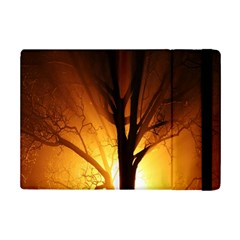 Rays Of Light Tree In Fog At Night Ipad Mini 2 Flip Cases by Amaryn4rt