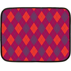 Plaid Pattern Double Sided Fleece Blanket (mini)