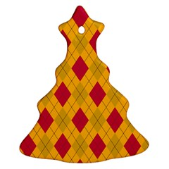 Plaid Pattern Christmas Tree Ornament (two Sides) by Valentinaart