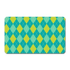 Plaid Pattern Magnet (rectangular) by Valentinaart