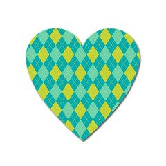 Plaid Pattern Heart Magnet