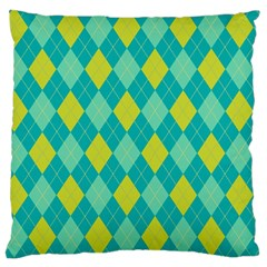 Plaid Pattern Large Flano Cushion Case (two Sides) by Valentinaart