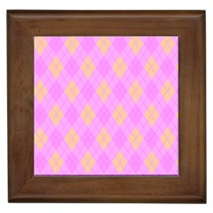 Plaid Pattern Framed Tiles by Valentinaart