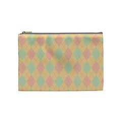 Plaid Pattern Cosmetic Bag (medium)  by Valentinaart
