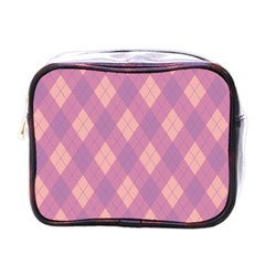 Plaid Pattern Mini Toiletries Bags by Valentinaart