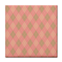 Plaid Pattern Tile Coasters by Valentinaart