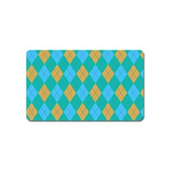 Plaid Pattern Magnet (name Card) by Valentinaart